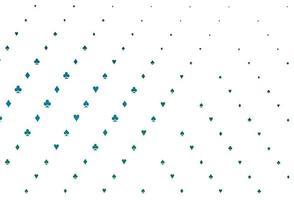 layout de vetor de azul claro e verde com elementos de cartas.