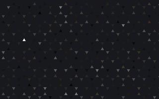 fundo sem emenda do vetor preto claro com triângulos.