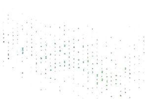 modelo de vetor azul claro e verde com símbolos matemáticos.