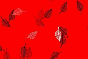 pano de fundo do doodle do vetor vermelho claro.