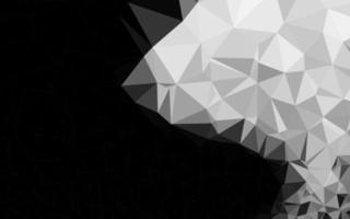 modelo de triângulo embaçado vetor cinza claro prata.