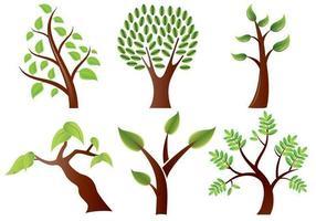 Pacote estilizado de vetores de árvores