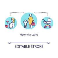 ícone do conceito de licença maternidade vetor
