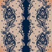 padrão sem emenda abstrata de vetor com laço de folhas e flores padrão