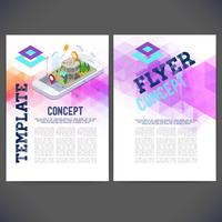 Projeto abstrato do molde do vetor, folheto, sites, página, folheto. vetor