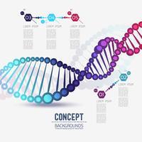 DNA de estrutura geométrica cor abstrata, o escopo de moléculas