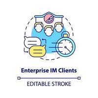 ícone de conceito de cliente empresarial IM vetor