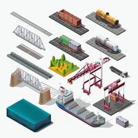 Conjunto de ícones vetoriais. Temas industriais isolados de estrutura. vetor