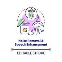 ícone do conceito de remoção de ruído vetor