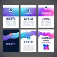 Vetor abstrato conjunto de design de modelo para, folheto, panfleto, página, folheto