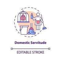 ícone do conceito de servidão doméstica vetor
