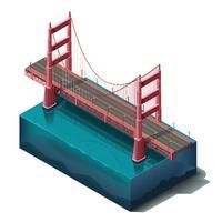Ponte golden gate vetor