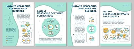 mensageiro para modelo de folheto de negócios vetor
