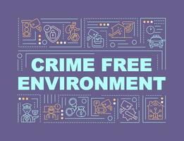 banner de conceitos de palavras em ambiente livre de crime vetor