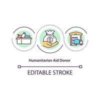 ícone do conceito de doador de ajuda humanitária. vetor