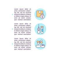 ícones de linha de conceito de material de ajuda humanitária com texto. vetor