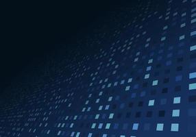 tecnologia digital dados azul quadrado pixel perspectiva fundo vetor