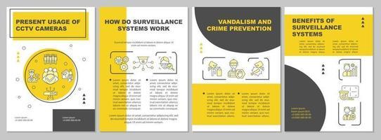 Modelo de folheto de prevenção de vandalismo e crime vetor