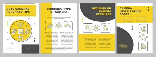 escolhendo o tipo de modelo de folheto de câmera vetor
