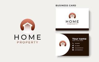 modelo de logotipo de conceito moderno para casa vetor