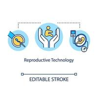 ícone do conceito de tecnologia reprodutiva vetor