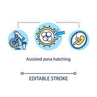 ícone do conceito de incubação de zona assistida vetor