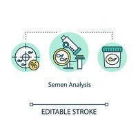 ícone do conceito de análise de sêmen vetor