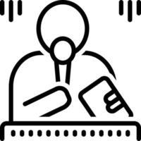 ícone de linha para mestre de cerimônias vetor