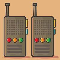 ilustração de walkie talkie em estilo simples vetor