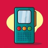 ilustração do gravador de voz em estilo simples vetor