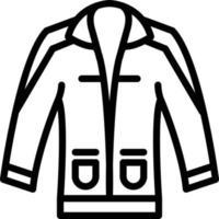 ícone de linha para roupas vetor
