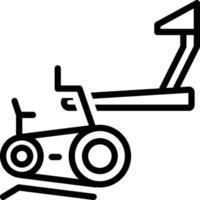 ícone de linha para academia vetor