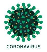 estrutura externa de close up do coronavírus covid19 vetor