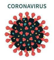 a estrutura do coronavírus covid-19 com picos vetor