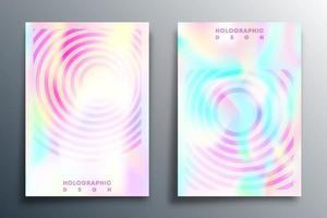 design de textura gradiente holográfica para brochura, capa de folheto, etc. vetor