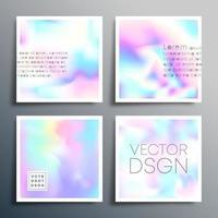 quadrado gradiente holográfico para capas, fundos abstratos, etc. vetor
