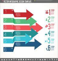 Vector design de modelo de design infográfico colorido