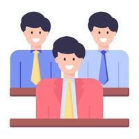 funcionários e colegas felizes vetor