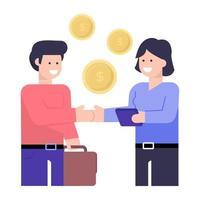 investidor e financiador vetor