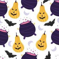 padrão sem emenda com elementos de halloween. vetor