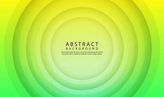 fundo abstrato geométrico verde com efeito de formas de círculo 3D vetor