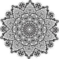 mandala spirit black lase vetor