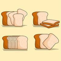 pão branco conjunto pão de vetor para menu de comida, ícone, logotipo, sinal