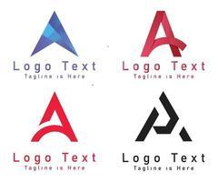 um logotipo de carta vetor