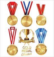 Vetorial, ilustração, de, medalha ouro