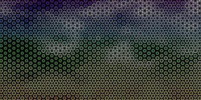padrão de vetor multicolorido escuro com elementos mágicos.