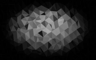 pano de fundo de mosaico abstrato de vetor cinza e prata escuro.