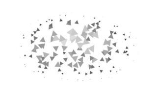 textura leve prata, cinza vetor em estilo triangular.