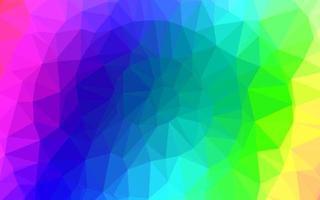luz multicolor, textura de baixo poli do vetor do arco-íris.