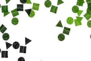 cenário de vetor verde claro com linhas, círculos, losango.